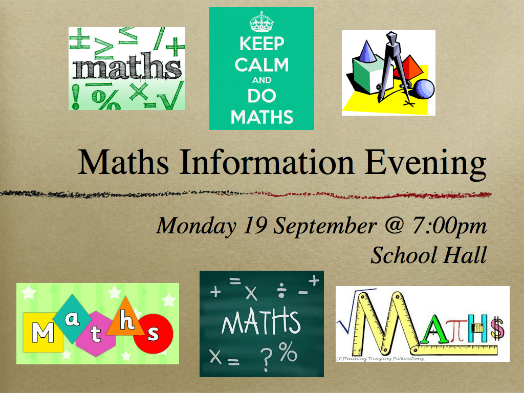 Maths Information Evening.001-001
